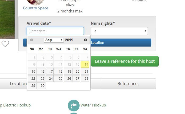 Boondockers Welcome Scheduling